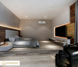 Project bedroom design by Gridwerkz Interior.