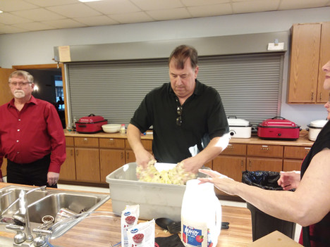 Helping at Clinic Fundraiser