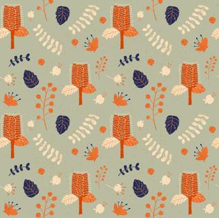 AustralianNative Flowers Pattern