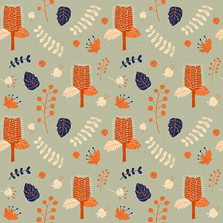 AustralianNative Flowers Pattern