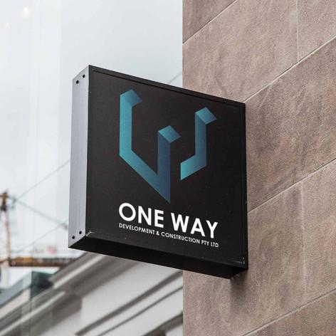 One Way Logo Design