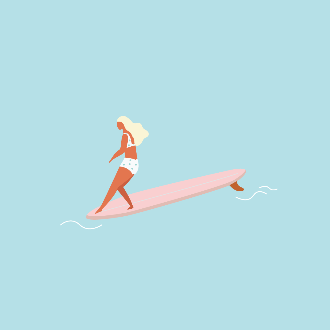 Illustration - Surfer girl