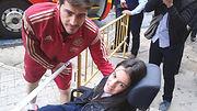 Lorena Bogado con Iker Casillas