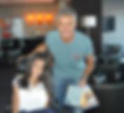 Lorena Bogado y Sergio Dalma