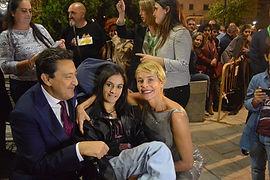Lorena Bogado con Mariano Peña y Belén Rueda