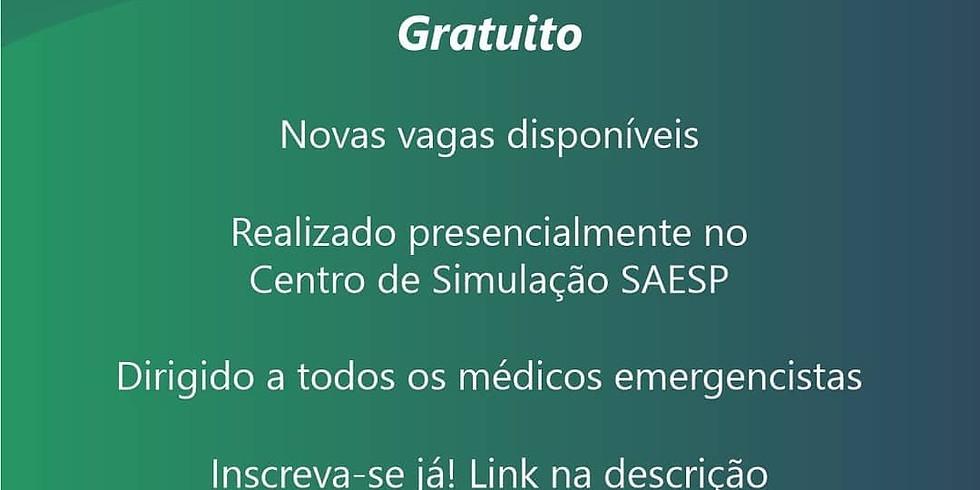 Treinamento em intubação traqueal SAESP