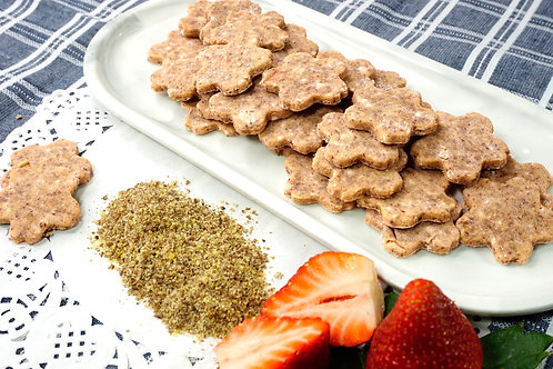 Flax Seed Strawberry Cheesecake Cookies 5oz. Dog Treats