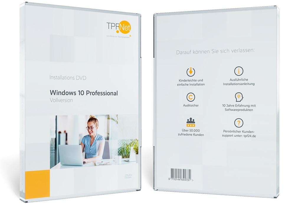 3D-Visualisierung einer DVD-Hülle. Zu sehen ist die Vorder- und Rückseite der Hülle.