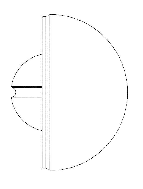 Abb. 1: Hier sehen Sie eine CAD-Zeichnung, die auf Basis von Linien und Kurven eine dreidimensionale Form beschreibt.