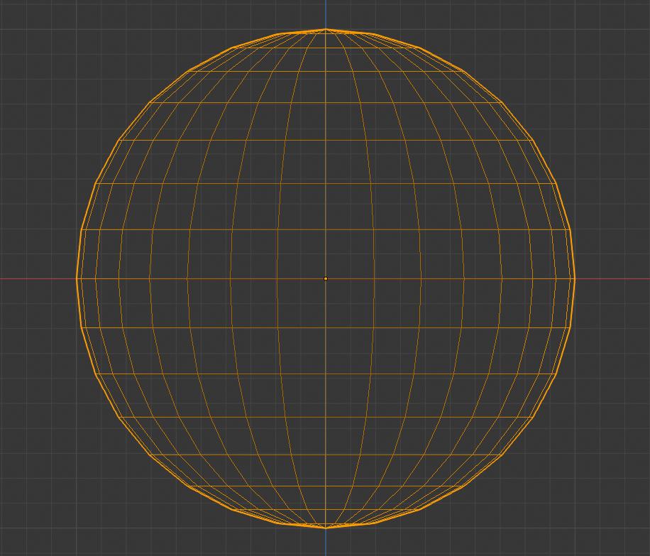Abb. 2: Hier sehen Sie eine 3D Kugel, die aus einer CAD-Anwendung heraus exportiert und in ein Mesh umgerechnet wurde.