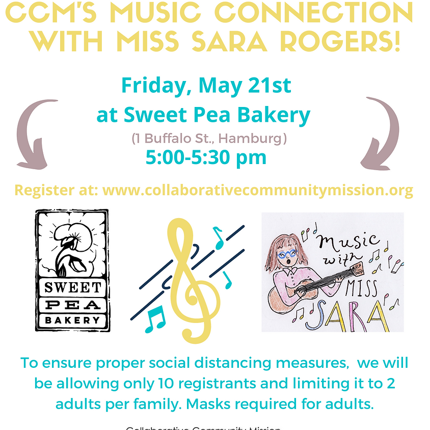CCM'S Music Connection with Miss. Sara Rogers - In Person