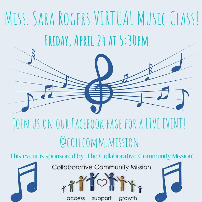 Virtual Music with Miss. Sara - April
