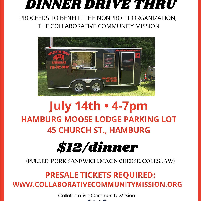 Jake and The Fatman BBQ Drive Thru Dinner - Presale Tickets Required