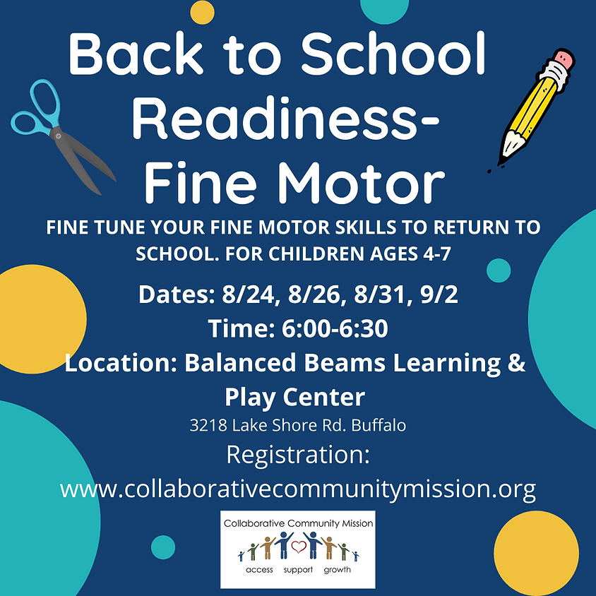 Back to School Readiness - Fine Motor