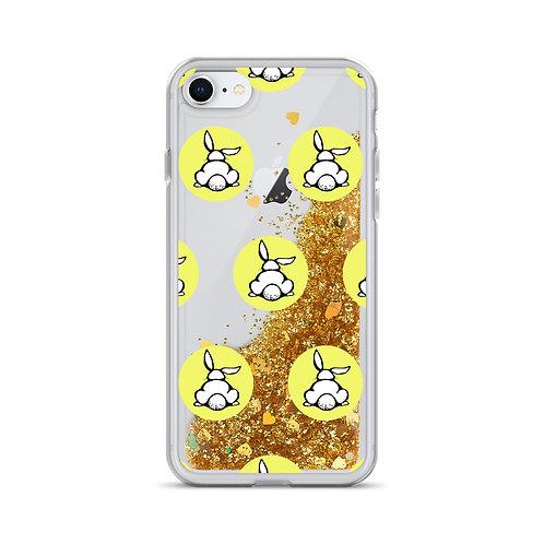Bunny Logo (Yellow) Liquid Glitter Phone Case