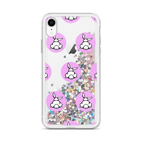 Bunny Logo (Pink) Liquid Glitter Phone Case
