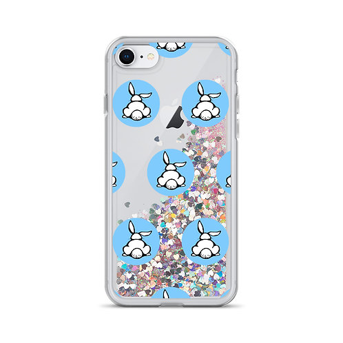 Bunny Logo (Blue) Liquid Glitter Phone Case