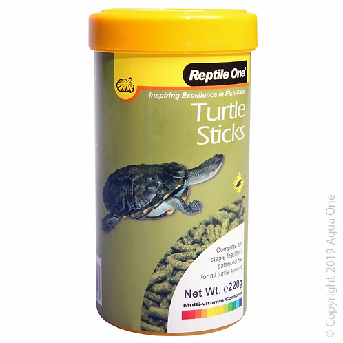 Reptile One Turtle Sticks 220g | Fishy Biz | Reptile Food | Short Neck Turtle Food | Long Neck Turtle Feed | What Turtles Eat