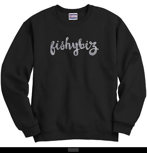 Buy Premium Unisex Metallic Logo Crewneck Sweatshirt Online | Buy Apparel Online | Design Clothing | Fishy Biz | Adelaide