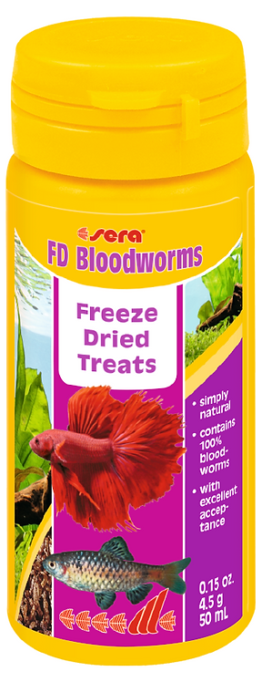 Freeze Dried  Bloodworms  -  20g  / 250mL | Fishy Biz