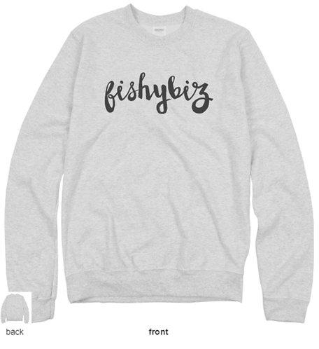 Buy Fishy Biz Unisex Crewneck Sweatshirt Online Mens Womens Childrens Clothing South Australia Adelaide