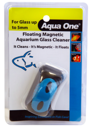 AQUA ONE FLOATING ALGAE MAGNETIC CLEANER SMALL - SUITABLE FOR UP TO 5MM GLASS   Fishy Biz
