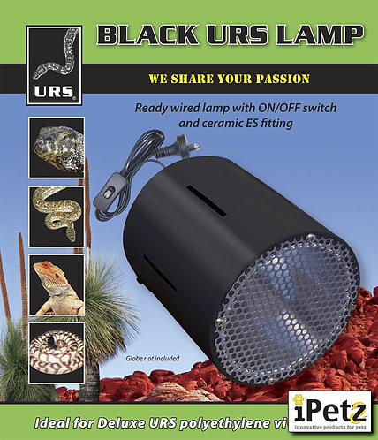 URS Vivarium Lamp - Black / White - Reptile Lighting For Turtles, Snakes, Lizard
