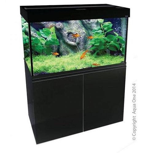 Buy Aqua One Brilliance 80 176L Rectangular Aquarium Set Black (LED Version) | Fishy Biz | South Australia