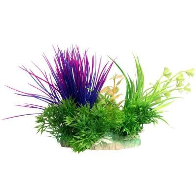 Aqua One Ecoscape Small Blyxa Artificial Aquarium Plant Purple 10cm | Fish Tank Ornaments | Fake Plants | Adelaide