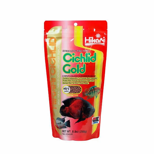 Hikari Cichlid Gold  (Medium Pellets) 57g | FIsh Food | Cichlid Pellets | Fish | Petstore | Aquarium | Fish Tank