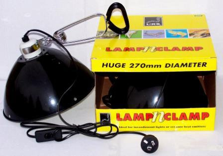 URS Large Lamp n' Clamp 250mm Reptile \ Turtle Light Fitting | Fishy Biz | Reptile Accessories Adelaide | Baby Turtle Lights
