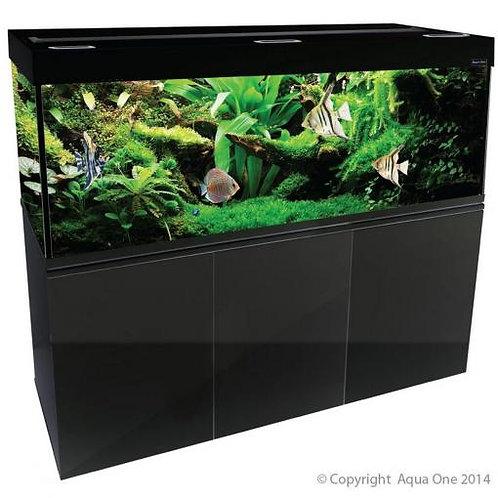 Aqua One Brilliance 180 580L Rectangular Aquarium Set Black (LED Version) | Fishy Biz | Adelaide | South Australia