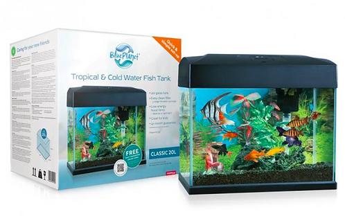 Blue Planet Classic Fish Tank Aquarium 20L LED - Filter & Heater Included | Fishy Biz | South Australia