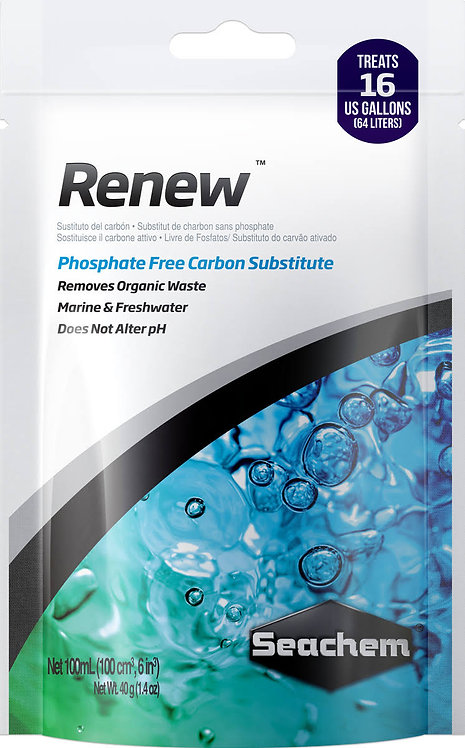 Seachem Renew 100ml Bagged | How to Clean Aquarium Water | Removes Waste From Aquarium | Fishy Biz | Aquarium Maintenance SA