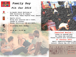 """B&P Family Day -  """"Fit for 2016"""""""