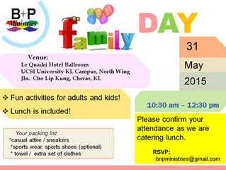 Family Day. 31st May 2015