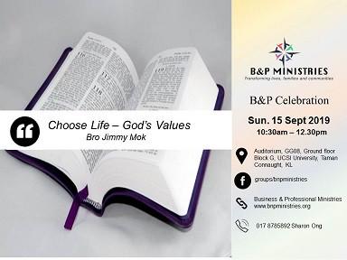 Choose Life - God's Values