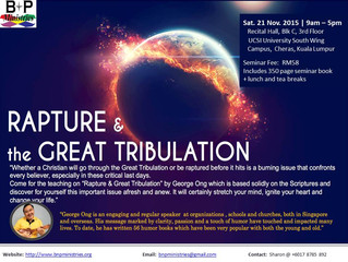 Rapture & The Great Tribulation