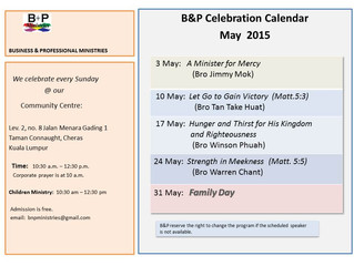 B&P Celebrations in May 2015