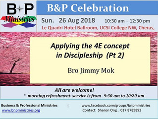 The 4E Concept in Discipleship (Pt. 2)