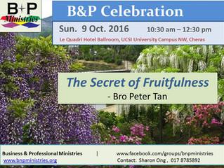 The Secret of Fruitfulness