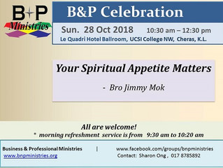 Your Spiritual Appetite Matters