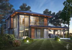Villa-T-night-view-front