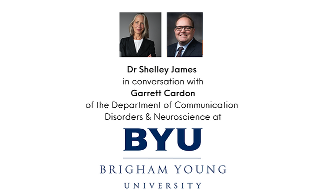 Dr Shelley James  in conversation with a