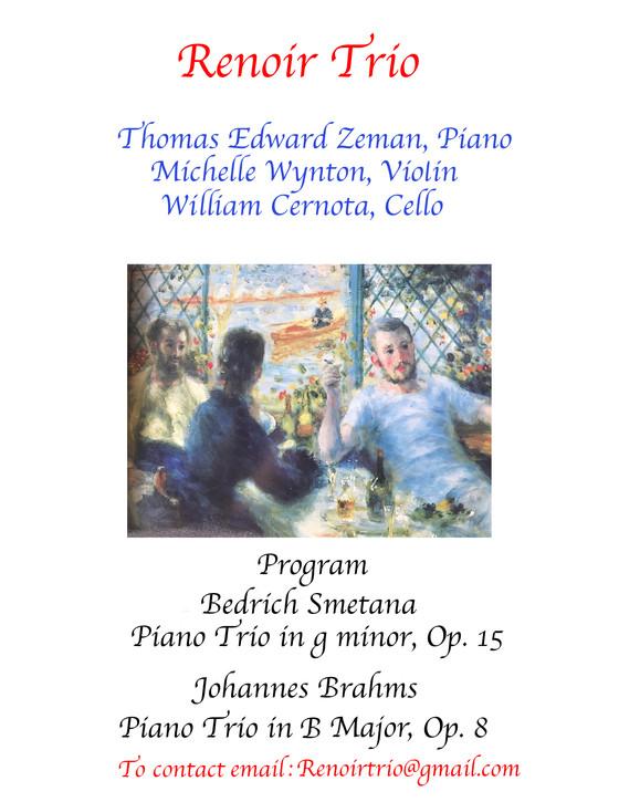 Renoir Trio Performs at Fourth Presbyterian Church in 2021