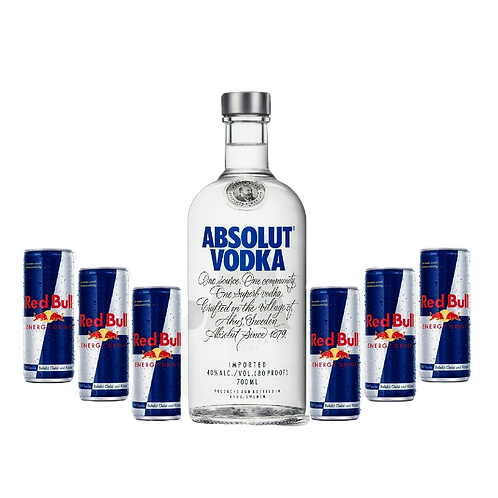 Absolut + 6x Red Bull