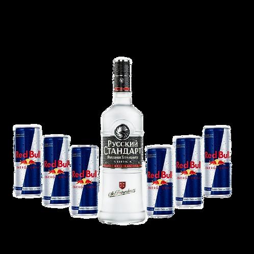 Russian Standard + 6x Red Bull