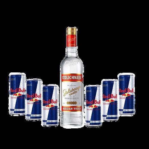 Stolichnaya + 6x Red Bull