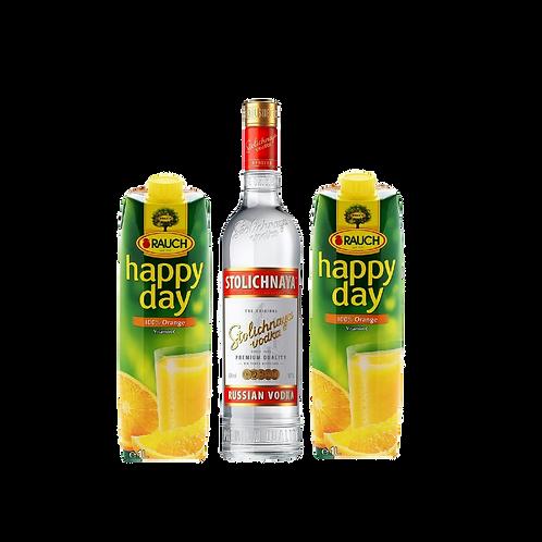 Stolichnaya + 2x Orangesaft