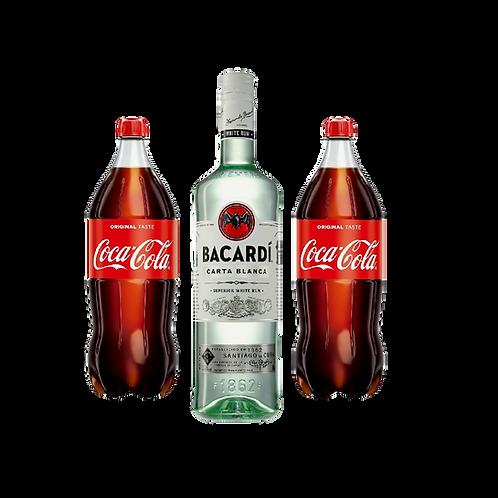 Bacardi + 2x Coca Cola